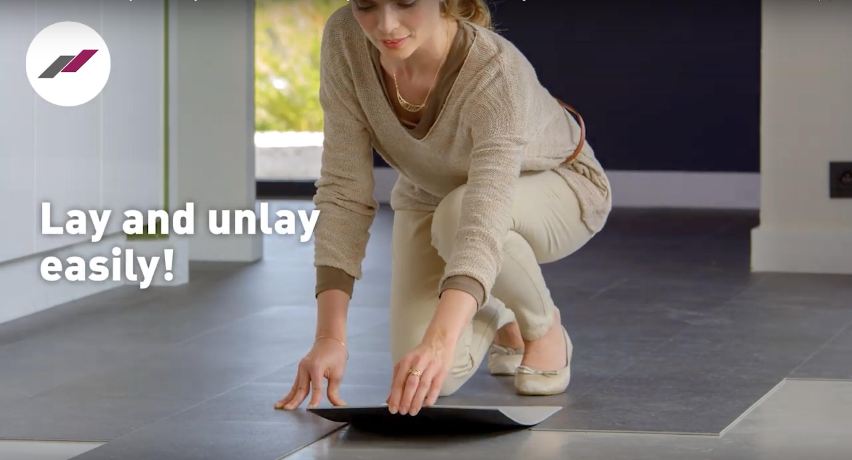 Gerflor Senso Adjust Designböden einfach anlegen – andrücken und fertig!